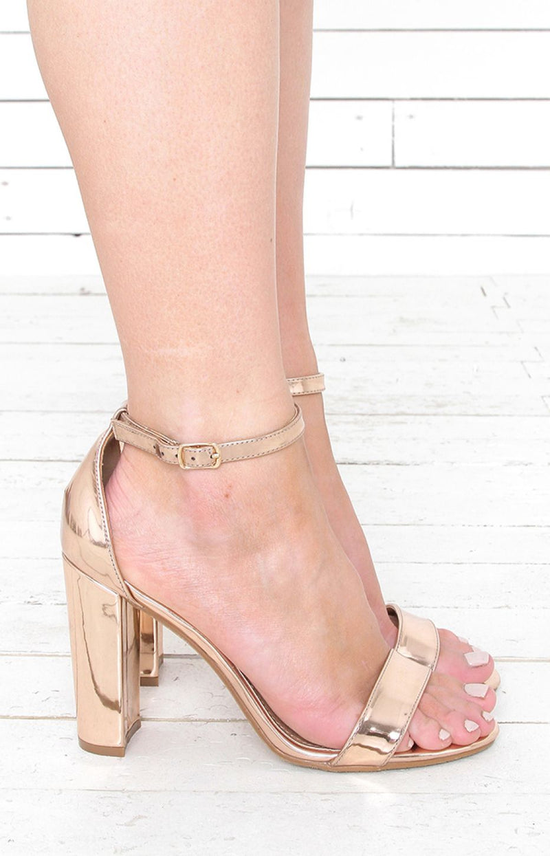 Delilah Heels - Rose Gold