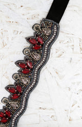 Beaded Belt #007 - Red