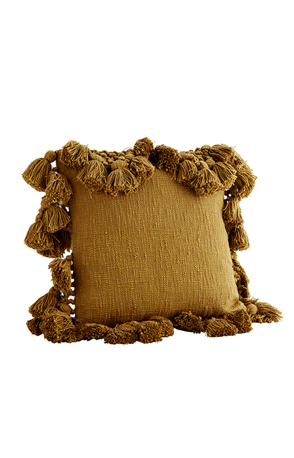 Cotton Cushion w/ Tassels - Oil