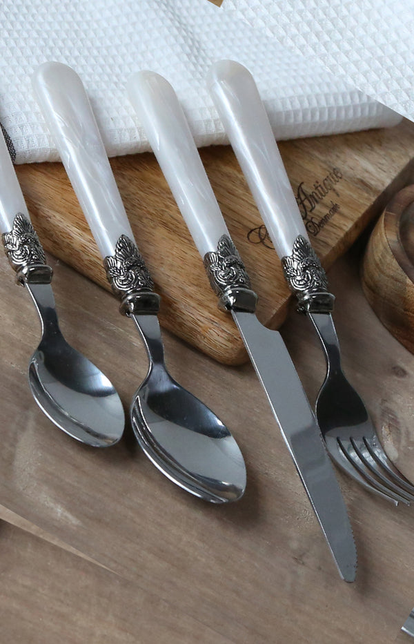 Linas Cutlery Set of 4 - Mother of Pearl