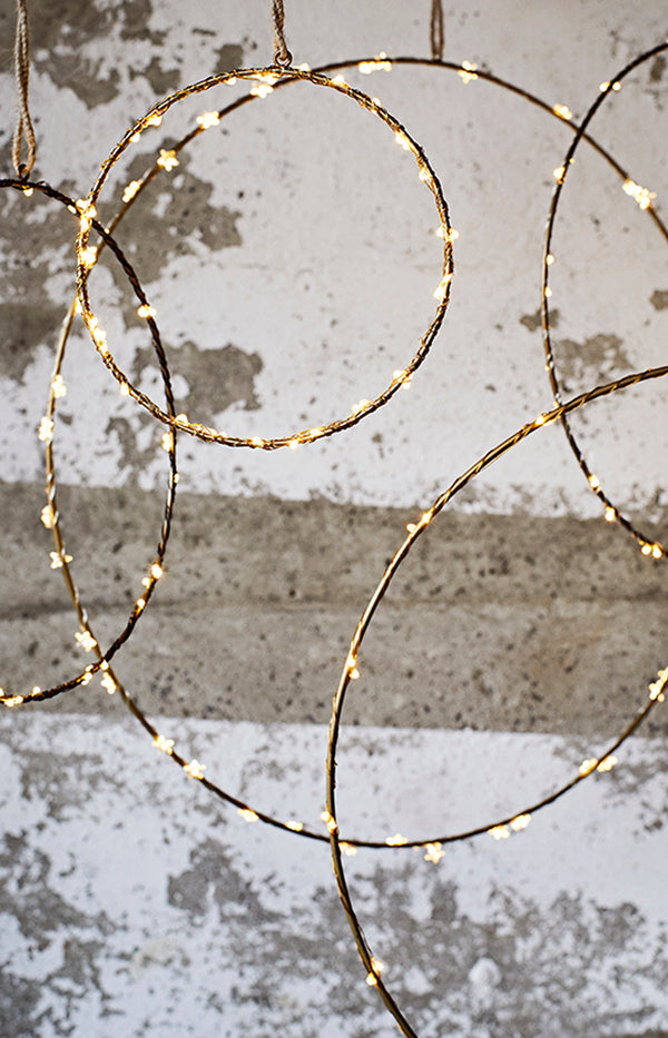 Wire Ring - Antique Brass - 40cm