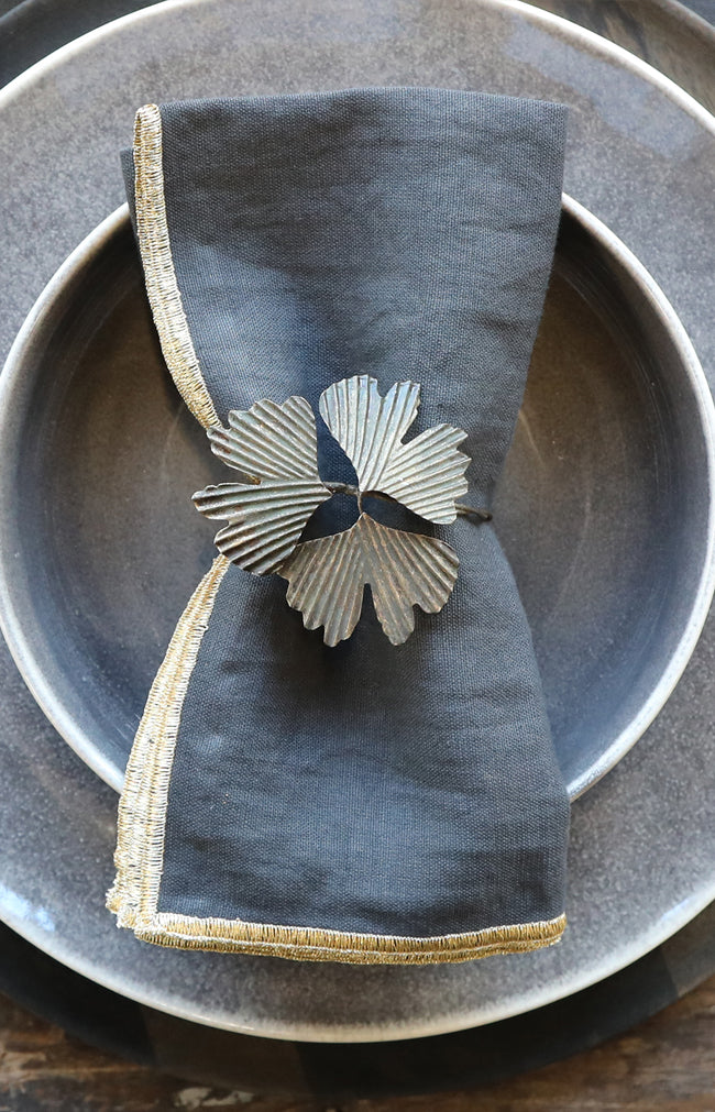 Antique Leaves Napkin Ring