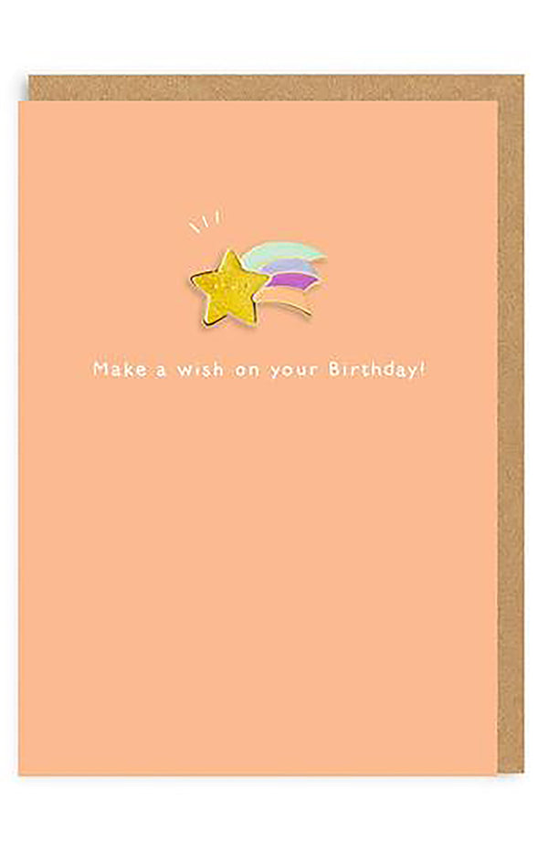 Make A Birthday Wish Enamel Pin Greeting Card