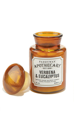 Paddywax Verbena and Eucalyptus Apothecary Glass Candle