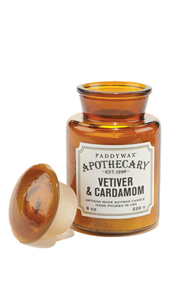 Paddywax Vetiver and Cardamom Apothecary Glass Candle