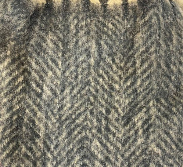 Woolen Plaid - Herringbone Grey
