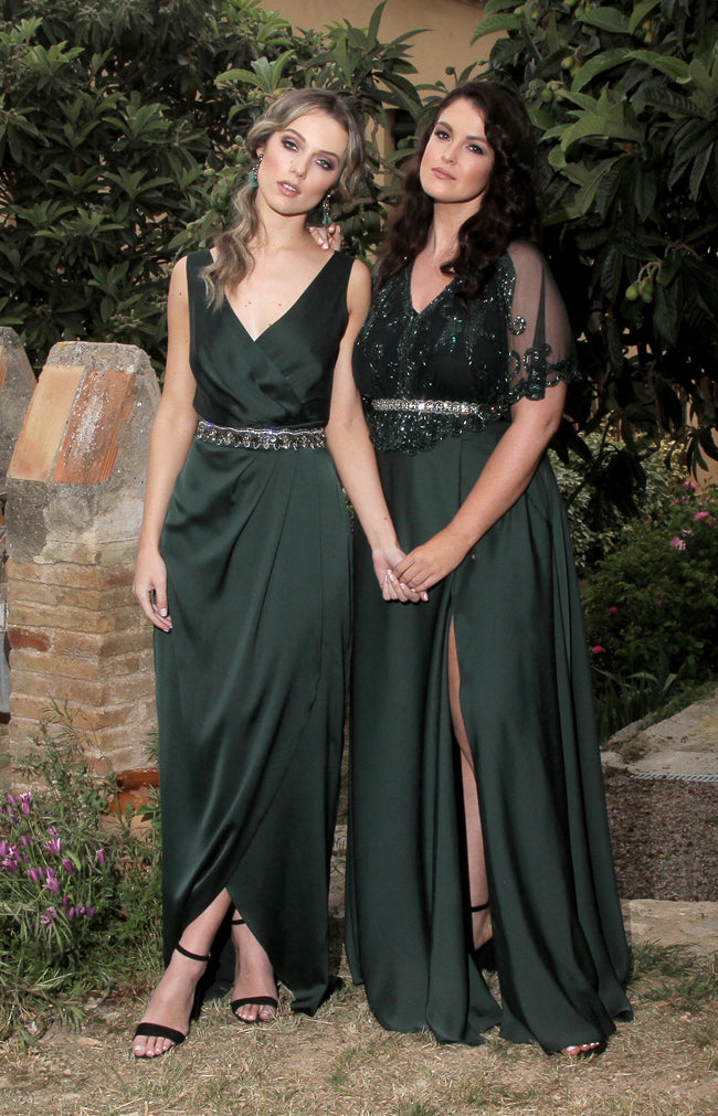 Fabia Gown - Forest Green