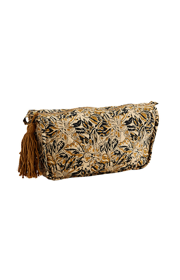 Printed Toilet Bag w/ Tassel - Sand