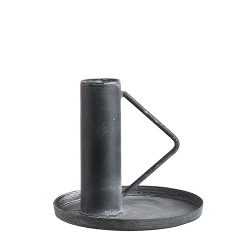 THOMAS Candle holder Black - Triangle