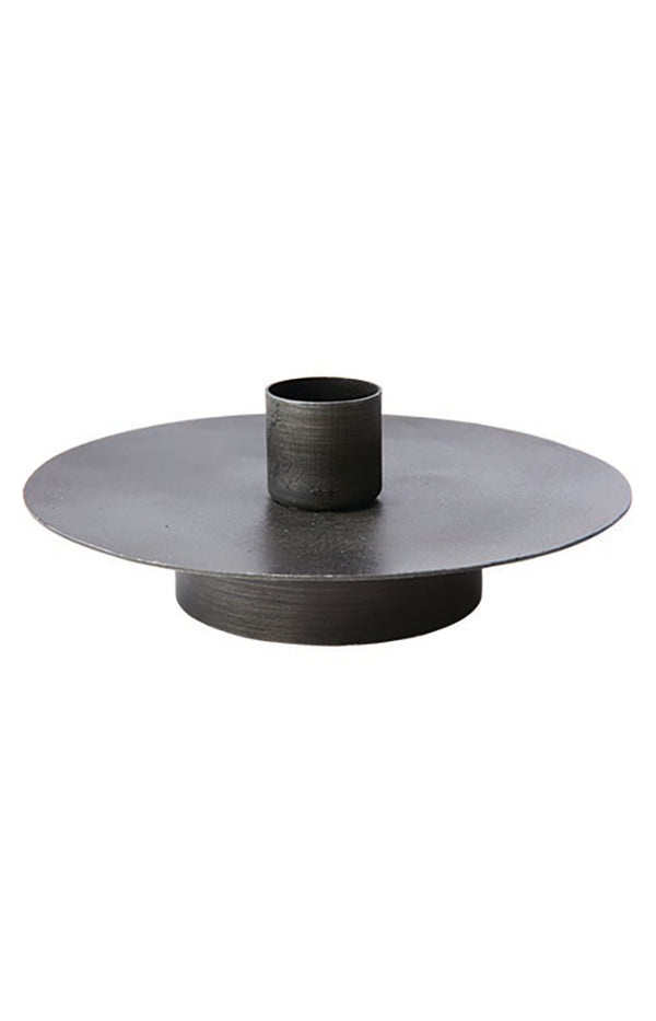THOMAS Candle holder S Black - D12/3xH5 cm