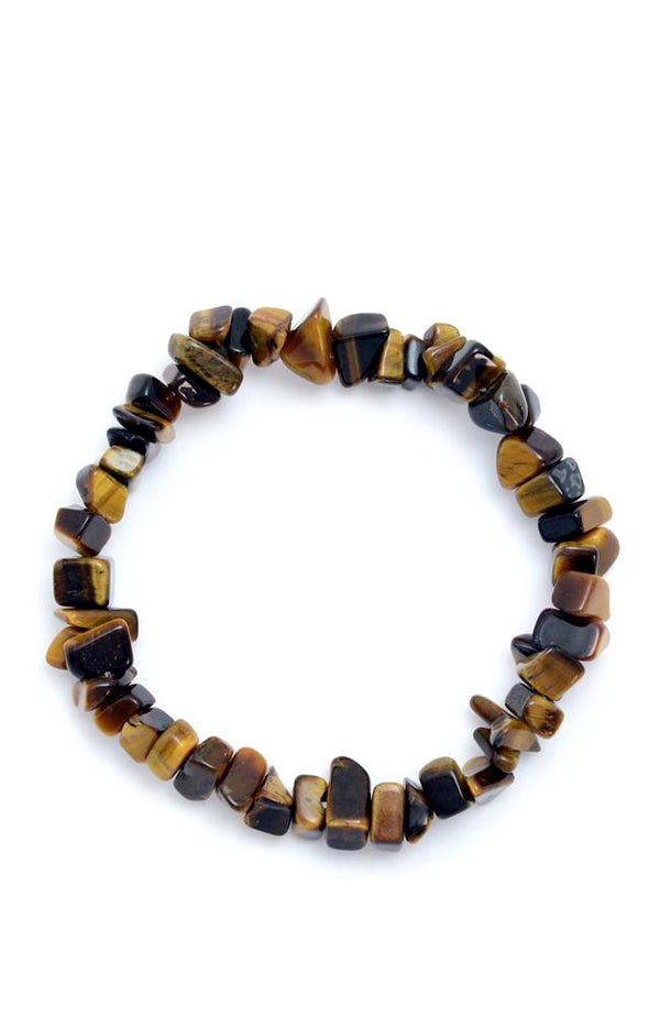 Crystal Chip Bracelet - Golden Tigers Eye