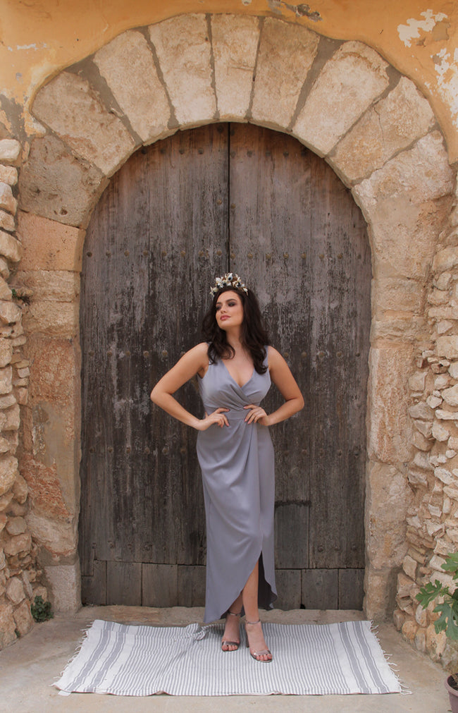 Fabia Gown - Dusty Blue