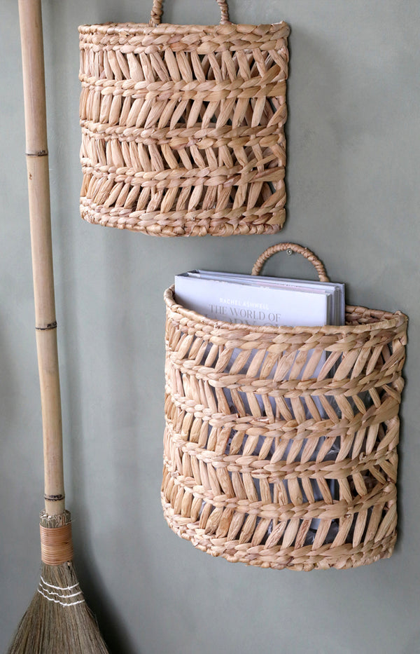 Hanging Basket W/ Wicker Pattern