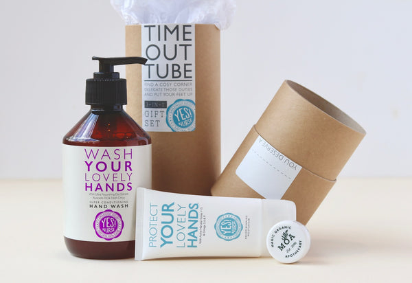 Gift Set - Hand Wash, Hand Cream & Moa Green Balm - Open Tube