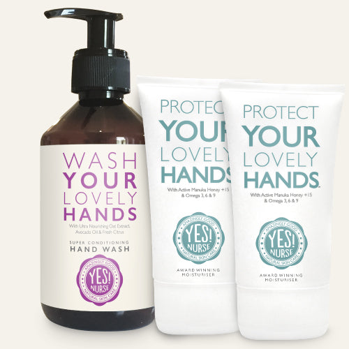 Yes! Nurse Super Conditioning Hand Wash 300ml & Protect Your Lovely Hands Hand Cream 50ml