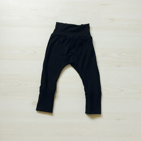 Grow With Me Cotton Joggers - Black