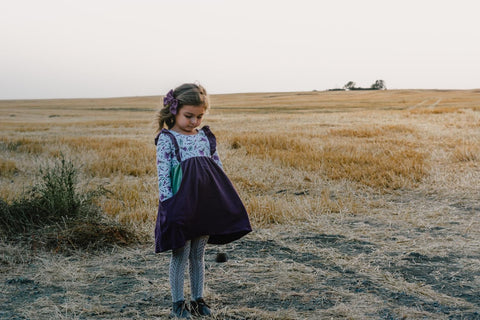 Lavender Long Sleeve Katie Dress