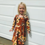 Sunflower Long Sleeve Aria Dress