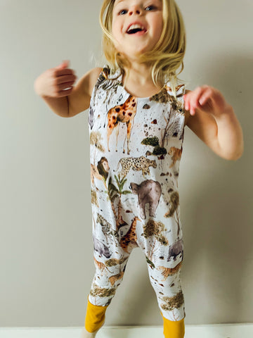 Grow With Me Safari Romper