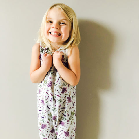Grow With Me Lavender Romper