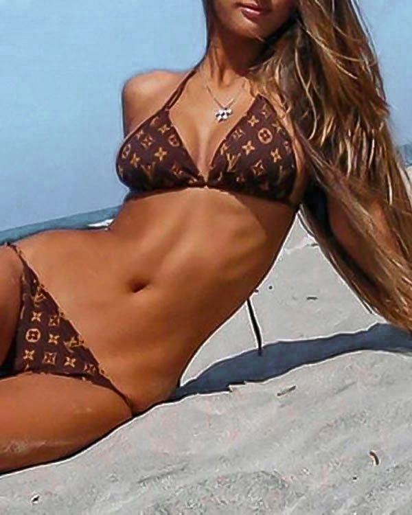 Triangle Bikini in Brown