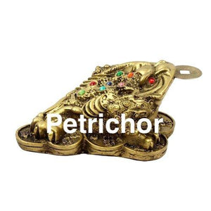 Fengshui Gold Money 3 Legged Frog With Coin for Home/Office Decor