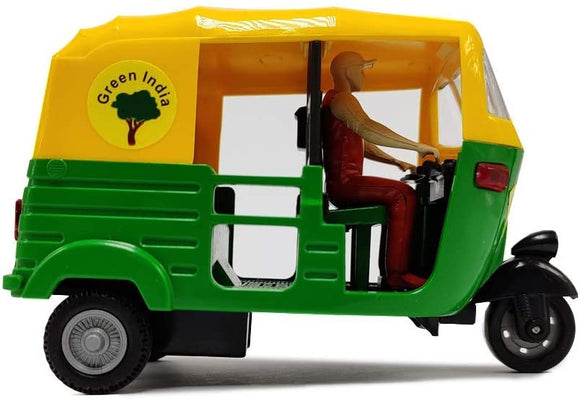 Indian Handicraft Famous Auto Rickshaw/TUK TUK/Rickshaw Taxi Model Showpiece Collectible Figurine Home Decoration and Gifting (Multi Colour)