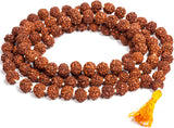 Original Rudraksha Mala for Daily Wear or Mantra Japa With LAB Certificate (10 mm, 20 inches length)