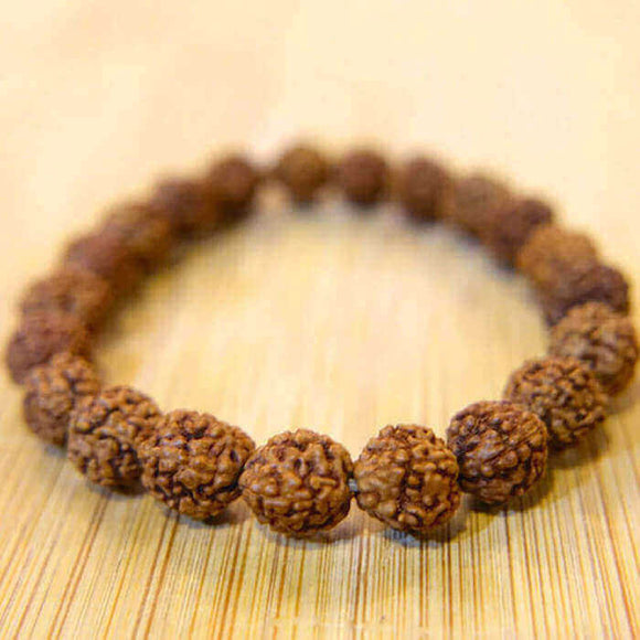 Original 5 Mukhi Rudraksha Beads Bracelet - Daily Wear Party Wear Gifts for Men and Women (Pack of 2)