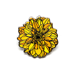 "Flor Amarillo 1"" Pin"