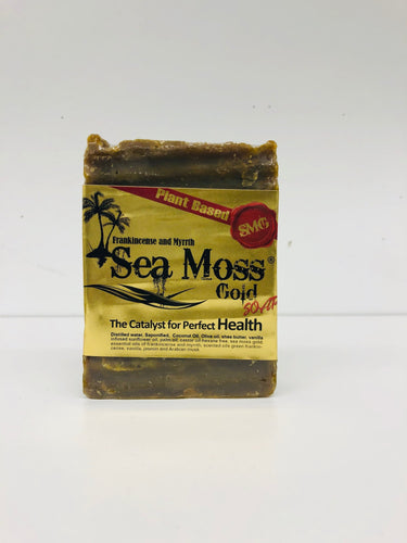 Sea Moss Gold Soaps Frankincense and Myrrth-Knowledge Designz