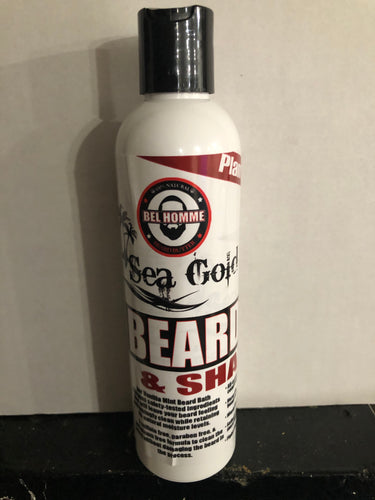 SEA MOSS GOLD BEARD BATH & SHAMPOO (8oz)-Knowledge Designz