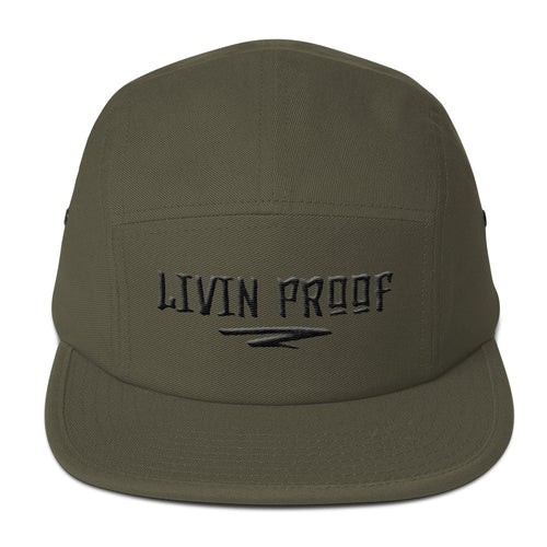 Livin Proof Knowledge Clothing Hat Flat Embroidery (Olive)-HATS-Knowledge Designz