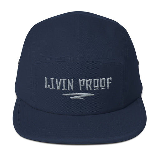Livin Proof Knowledge Clothing Hat Flat Embroidery (NAVY)-HATS-Knowledge Designz