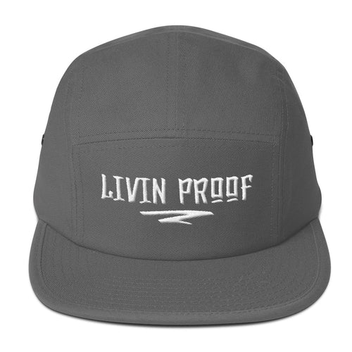 Livin Proof Knowledge Clothing Hat Flat Embroidery (Grey)-HATS-Knowledge Designz