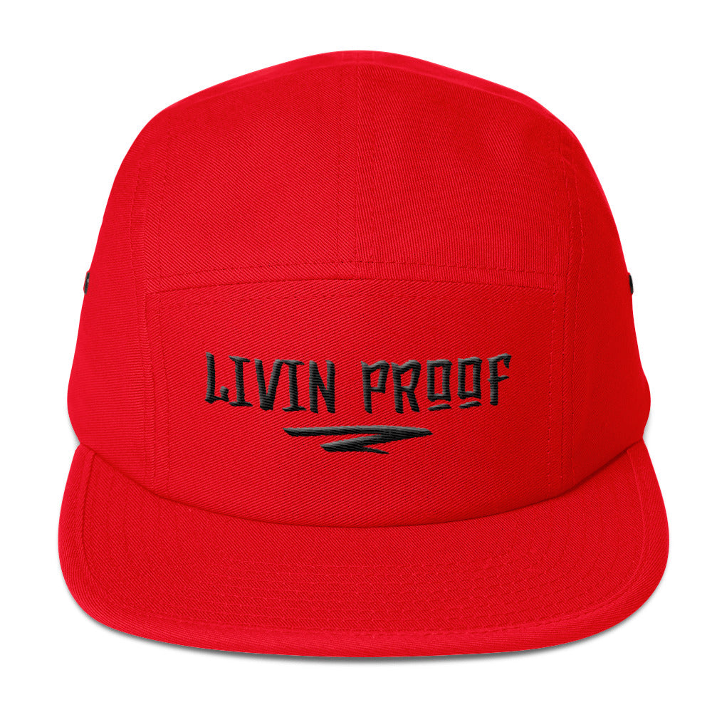 Livin Proof Knowledge Clothing Hat Flat Embroidery (RED)