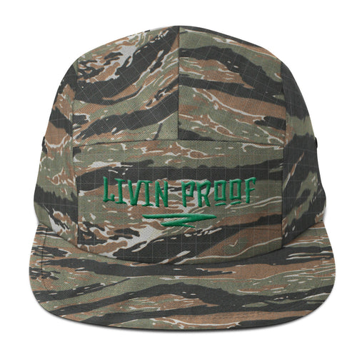 Livin Proof Knowledge Clothing Hat Flat Embroidery (Camo)-HATS-Knowledge Designz