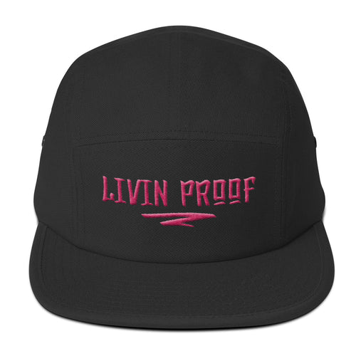 Livin Proof Knowledge Clothing Hat Flat Embroidery (BLACK)-HATS-Knowledge Designz