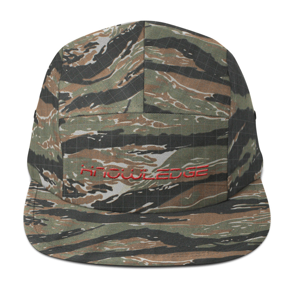 KNOWLEDGE PANEL HAT EMBROIDERED IN RED-HATS-Knowledge Designz