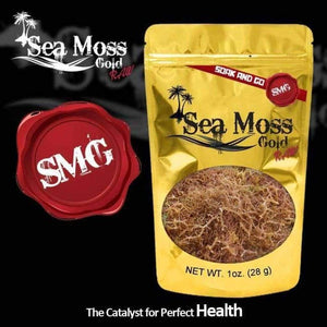 1 Ounce of Sea Moss Gold: Raw Catalyst for Perfect Health (Dr. Sebi Approved)-Knowledge Designz