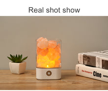 Load image into Gallery viewer, Crystal Light Himalayan Salt LED Lamp