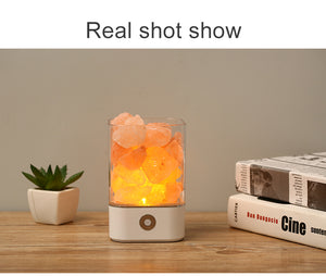 Crystal Light Himalayan Salt LED Lamp