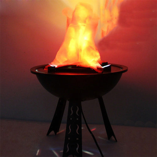 Halloween Electronic Fake Flame Fire Hanging Lamp