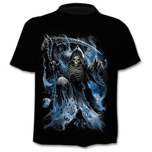 Load image into Gallery viewer, Skull 3D T-Shirt Short Sleeves