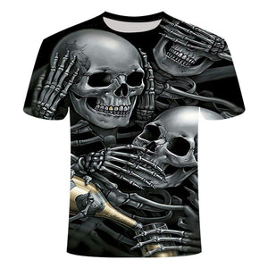 Skull 3D T-Shirt Short Sleeves