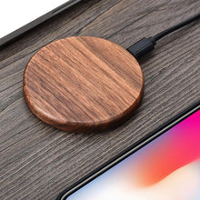 Load image into Gallery viewer, Fast Wooden Wireless Charger