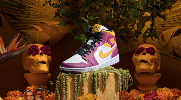 AIR JORDAN 1 MID 'DAY OF THE DEAD'