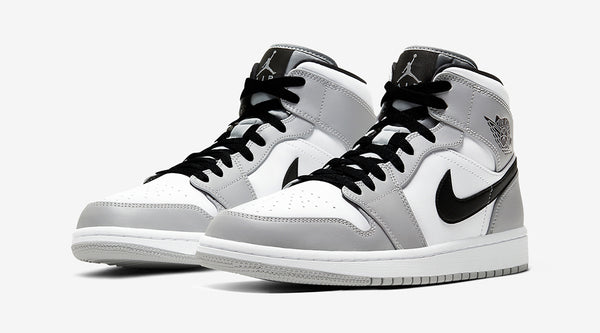 AIR JORDAN 1 MID 'LIGHT GREY SMOKE'