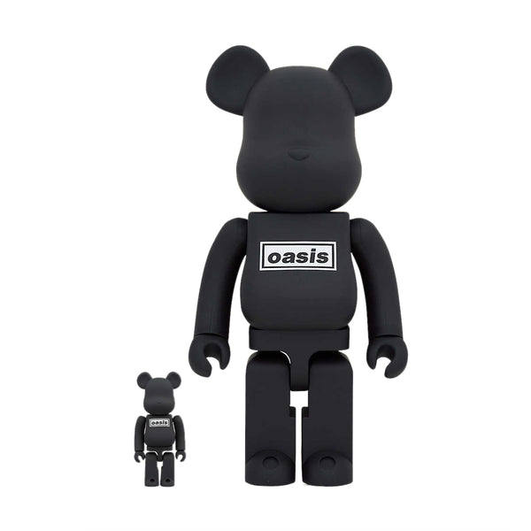 + Oasis Be@rbrick 100% & 400% 'Black Rubber'