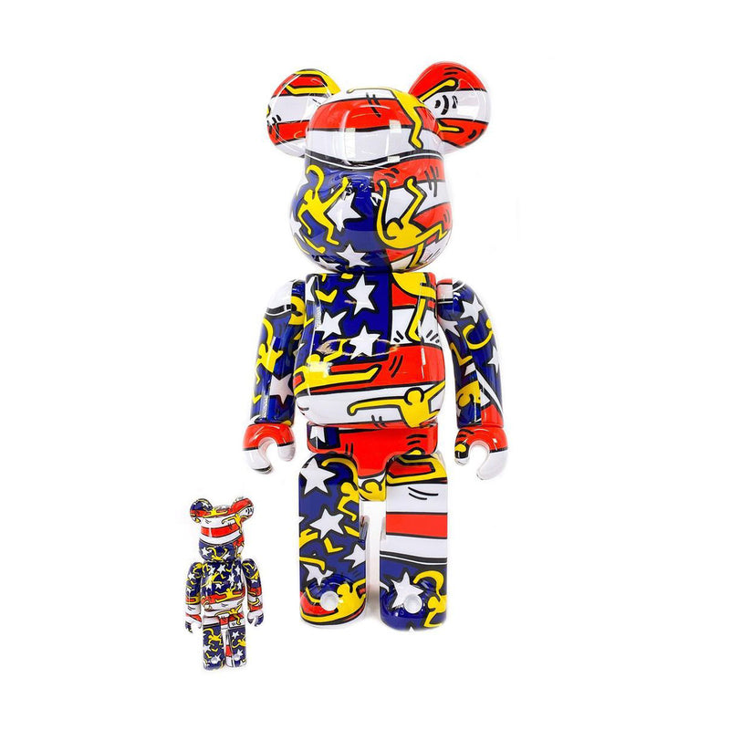 + Keith Haring Be@rbrick 100% & 400% 'American Flag'